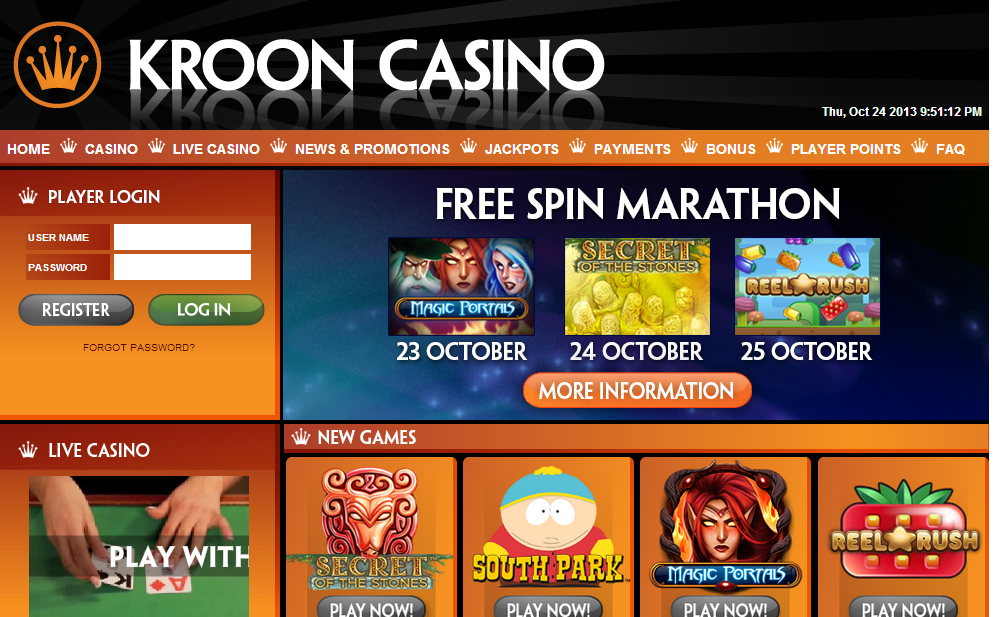 Krooncasino Screenshot